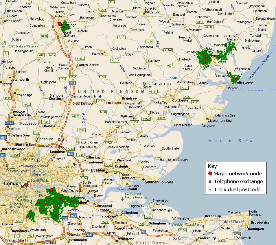 27 on Ipswich England Map